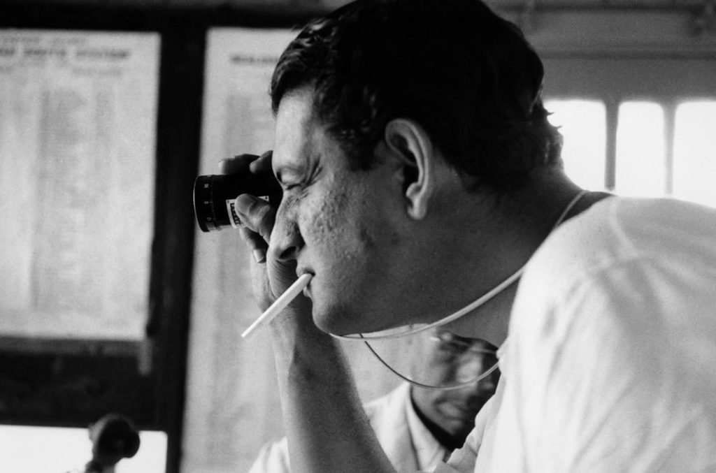 "Satyajit Ray working on ""Aparajito"" ©Marc Riboud, Magnum Photos"