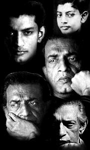 Satyajit Ray at different stages of his life