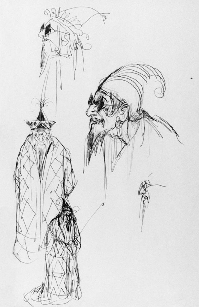 Character sketches by Satyajit Ray ©Ray Family