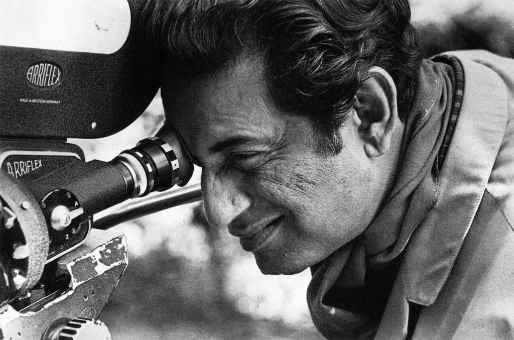 Satyajit Ray operating camera. ©Nemai Ghosh
