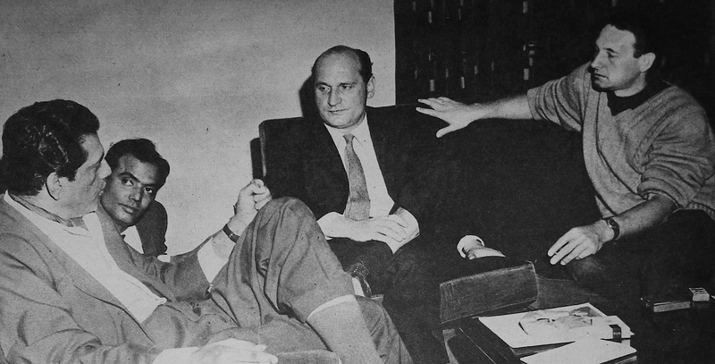 Satyajit Ray interviewing Andrzej Wazda for Filmfare magazine