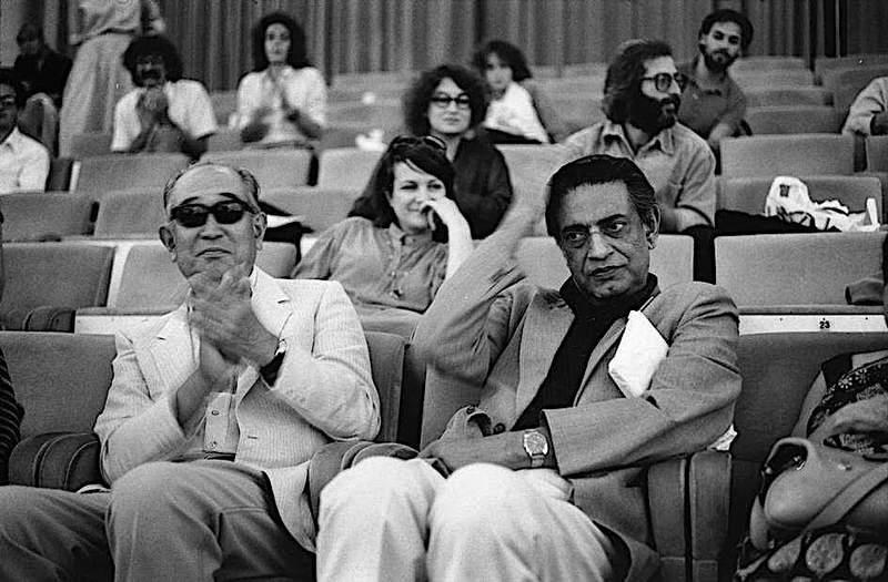 Satyajit Ray with Akira Kurosawa