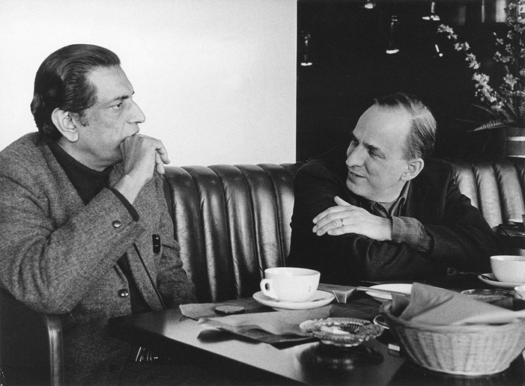 Satyajit Ray with Ingmar Bergman