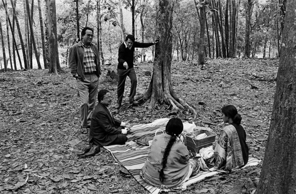 The picnic scene, a still taken during filming ©Nemai Ghosh