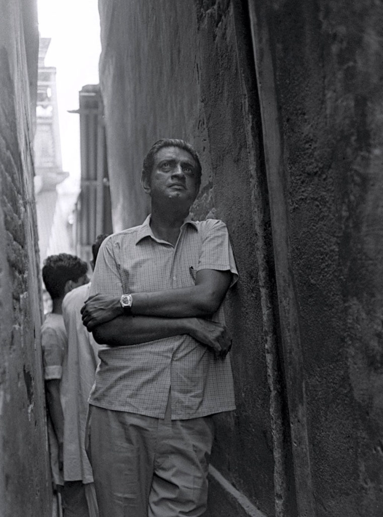 Satyajit Ray on set of Pratidwandi (The Adversary)- ©Nemai Ghosh